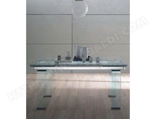 Table de salle à manger DOMINO Glass 160/240 x 100 verre trempé