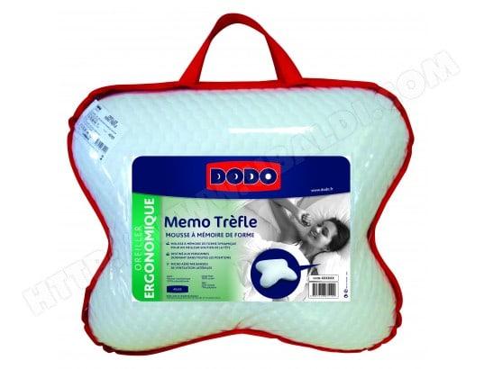 oreiller memoire forme dodo Oreiller rectangle DODO Mémo trefle 40x55 Pas Cher | UBALDI.com oreiller memoire forme dodo