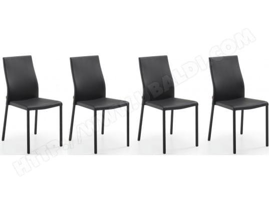 chaise lf lot de 4 chaises aura noir pas cher. Black Bedroom Furniture Sets. Home Design Ideas