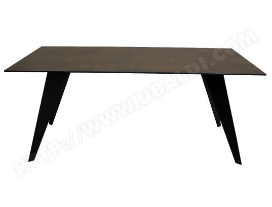 Table de salle à manger LF Nack 200x100 plateau céramique brun Pas ...