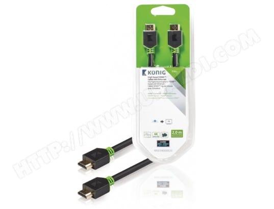 Câble HDMI KONIG Connecteur HDMI vs connect HDMI 2 m - KNV34000E20