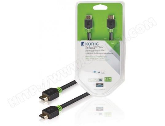 Câble HDMI KONIG Câble HDMI 3m blanc - KNV34000E30