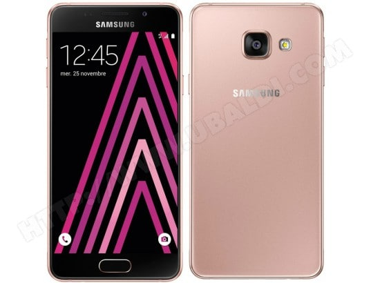 Smartphone SAMSUNG Galaxy A3 2016 Rose 16 Go