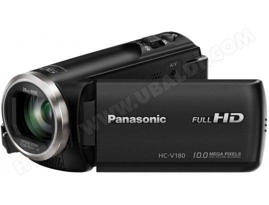 Caméscope carte mémoire PANASONIC HC-V180 noir