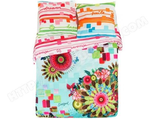 linge de lit desigual pas cher Parure de lit housse de couette DESIGUAL Parure Mojito hdc 240x220  linge de lit desigual pas cher