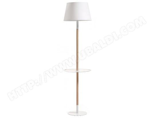 lampadaire salon lf moskov lampadaire avec tablette blanc. Black Bedroom Furniture Sets. Home Design Ideas
