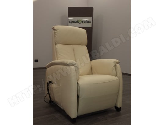 fauteuil relaxation ub design magnolia fauteuil relax cuir beige pas cher. Black Bedroom Furniture Sets. Home Design Ideas
