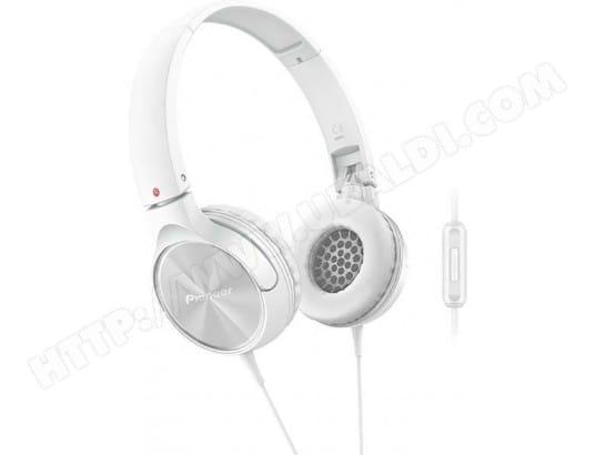 Casque audio arceau PIONEER SE-MJ522T (Blanc)