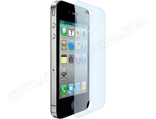 Film protection MUVIT Film verre trempé 0,4 mm pour iPhone 4/4S
