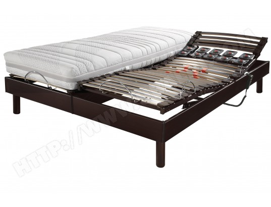 matelas sommier 2 x 80 x 200 ebac lit lectrique s66 weng lagon 2x80x200 pas cher. Black Bedroom Furniture Sets. Home Design Ideas