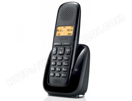 Téléphone sans fil SIEMENS GIGASET A150 noir