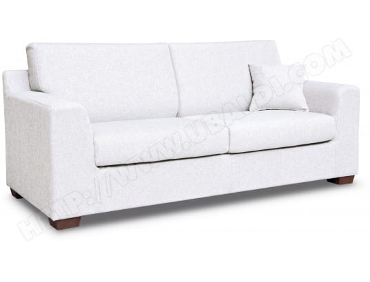 canap pu simili cuir city roma 3 places fixe pu blanc chiara 01 pas cher. Black Bedroom Furniture Sets. Home Design Ideas