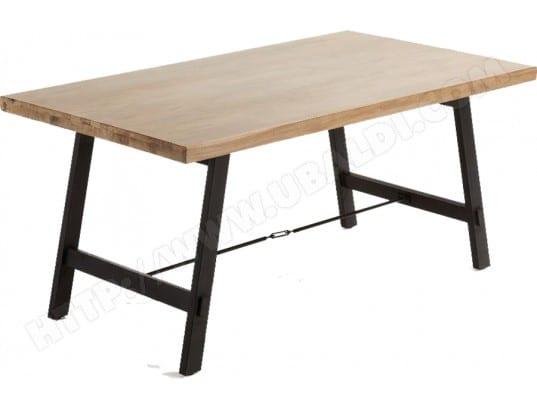 Table de salle à manger LF Vita 160x90 plateau acacia et pied métal
