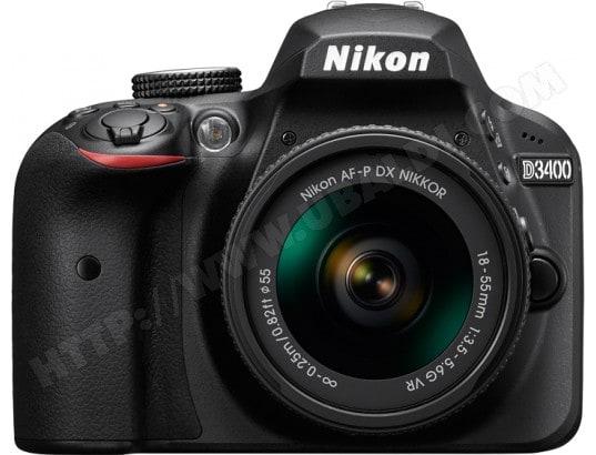 Appareil photo numérique reflex NIKON D3400 + AF-P 18-55 mm VR