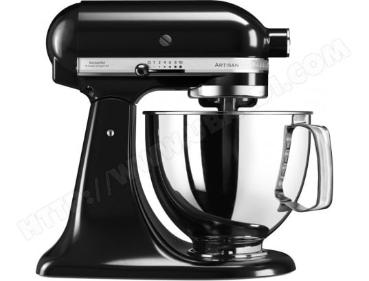 kitchenaid artisan 5ksm125eob noir onyx pas cher robot culinaire livraison gratuite. Black Bedroom Furniture Sets. Home Design Ideas