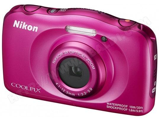 Appareil photo numérique compact NIKON CoolPix W100 rose