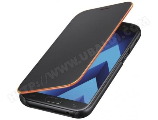 Etui SAMSUNG Flip neon noir pour Galaxy A5 2017
