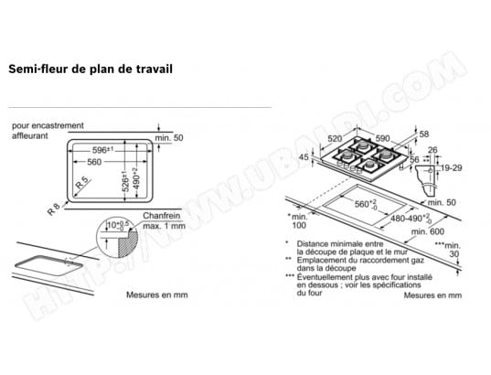 distance plaque de cuisson mur good cuisine comment encastrer une plaque de cuisson dans un. Black Bedroom Furniture Sets. Home Design Ideas