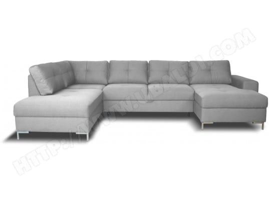 Canapé lit UB DESIGN Mia angle gauche silver chaise longue droite