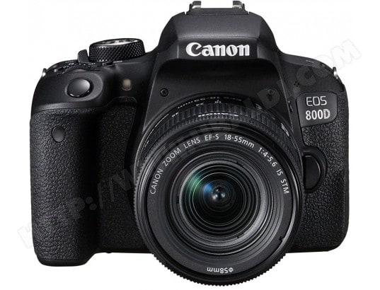 Appareil photo numérique reflex CANON EOS 800D + 18-55 IS STM