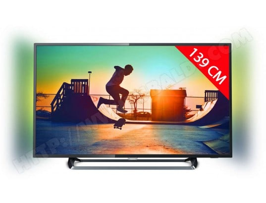 TV LED 4K 139 cm PHILIPS 55PUS6262