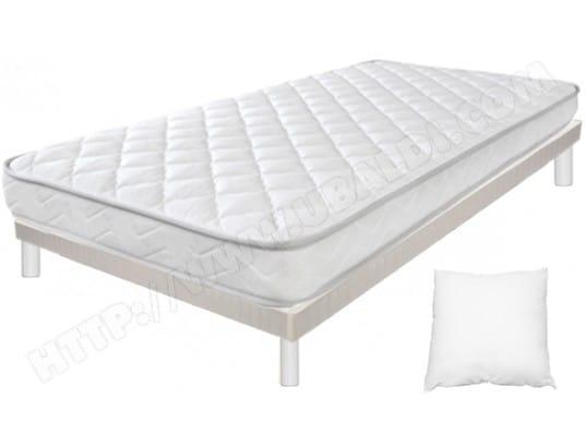 ensemble matelas sommier 80 x 200 duvivier lit joke sommier planche 80x200 pieds blanc. Black Bedroom Furniture Sets. Home Design Ideas