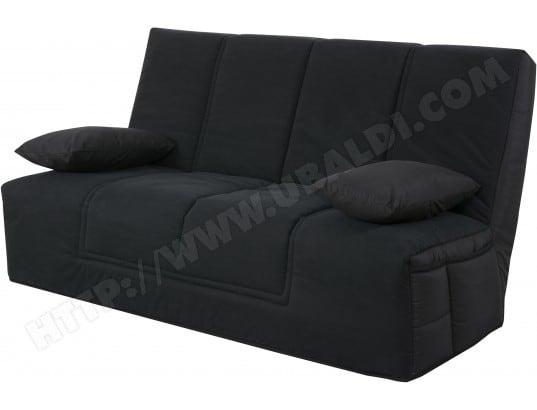 Canapé lit UB DESIGN Well cc tissu noir matelas Simmons 45kg/m3