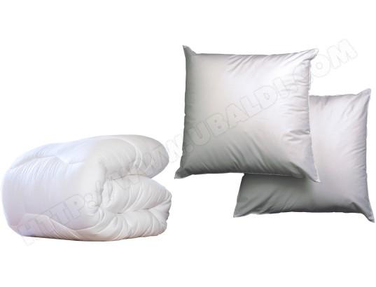 Ensemble couette + 2 oreillers BLANREVE Oraca légère 240x220 + 2 oreillers 60x60 moelleux