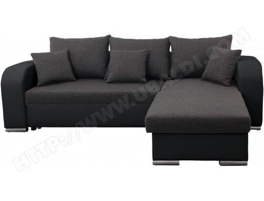 Canapé lit UB DESIGN Bart 2 angle réversible gris