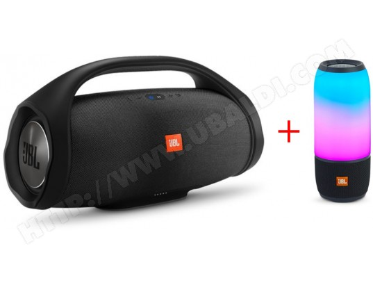 Enceinte bluetooth JBL BOOMBOXNOIR + PULSE3BLK