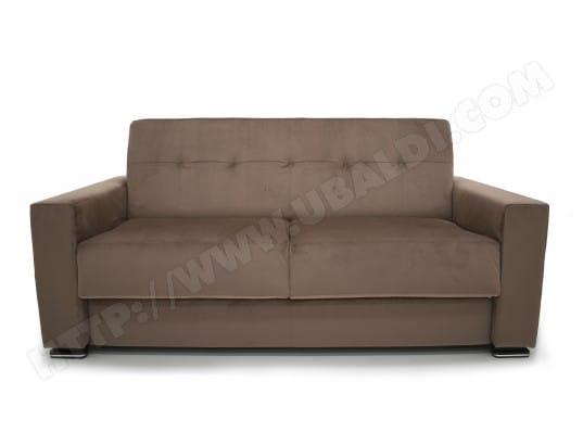 Canapé lit ALTEREGO DIVANI Nizza 3 pl convertible 140cm taupe