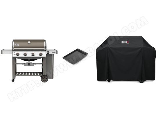 Barbecue gaz WEBER Genesis II E410 GBS SG avec Housse et Placha