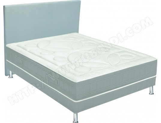 Lit déco PLS Lit Liner2 140x190cm + tête de lit déco gris