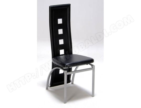 Lot De 2 Chaises Design Noir Weber Industries 84 Pas Cher Ubaldicom