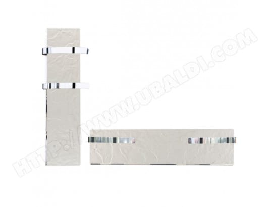 Sèche-serviette rayonnant SLIM ardoise blanche 800W VALDEROMA VAL_01800TL
