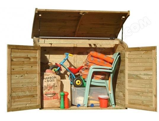 Armoire coffre de jardin en bois 900L CHALET ET JARDIN 9560 ...