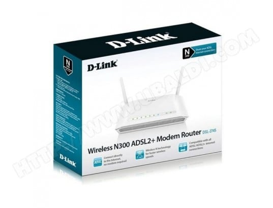 Router D-Link DSL-2745 Wifi 300 Mbps D-LINK BBS0202397