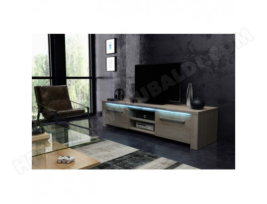 Meuble Tv Design Manhattan Xl 160 Cm A 2 Portes 2 Niches Coloris