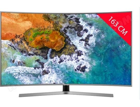 samsung ue65nu7645 tv led 4k incurv 163 cm livraison gratuite. Black Bedroom Furniture Sets. Home Design Ideas