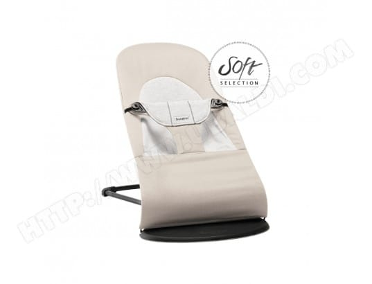 transat balance soft babybjorn beige gris coton jersey babybjorn a009648 pas cher. Black Bedroom Furniture Sets. Home Design Ideas
