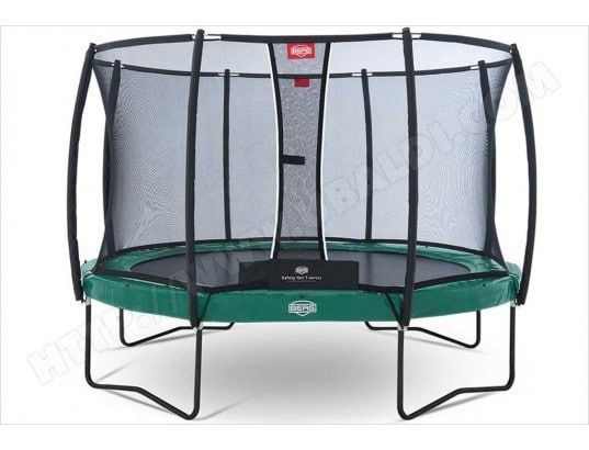 trampoline 430 cm berg elite vert filet berg d10758 pas cher. Black Bedroom Furniture Sets. Home Design Ideas