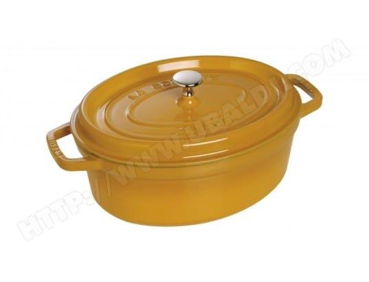 staub 40510 643 0 pas cher cocotte ovale 31 cm moutarde livraison gratuite. Black Bedroom Furniture Sets. Home Design Ideas