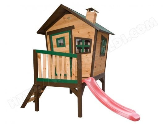 cabane en bois sur pilotis robin axi d10180 pas cher. Black Bedroom Furniture Sets. Home Design Ideas