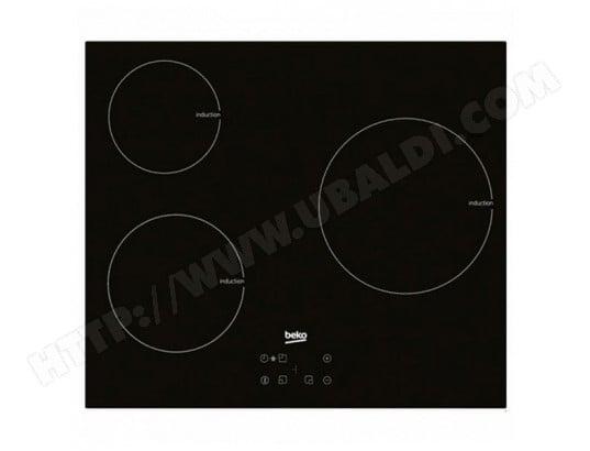 beko bbs0408267 plaque induction beko 220328 7200w 60 cm noir verre pas cher. Black Bedroom Furniture Sets. Home Design Ideas
