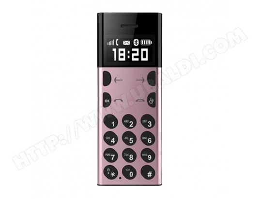 Petit Telephone Portable Position LBS GSM 2G Bluetooth Appels Rose YONIS MA-80CA507PETI-3FTTK