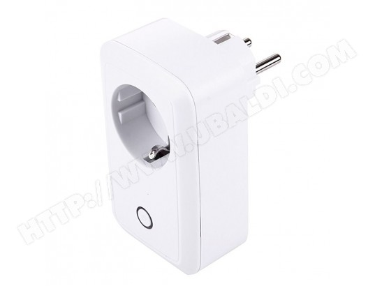 Prise Connectée Support Android iOS USB Port Télécommande Interrupteur Minuterie Protection Charge Blanc YONIS MA-80CA424PRIS-0Y4FR