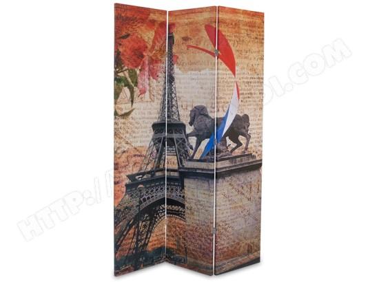 paravent en bois avec toile photo imprim coloris de 3 pans pegane ma 82ca357para 9qtuc pas cher. Black Bedroom Furniture Sets. Home Design Ideas