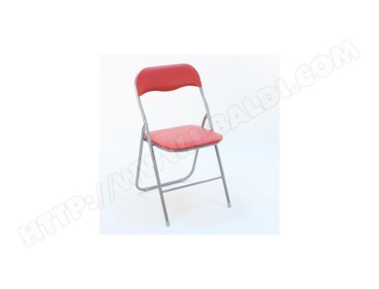 Chaise pliante basic rouge atmosphera ma 23ca493chai qll9p - Chaise pliante rouge ...
