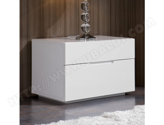 table de nuit design blanc laqu 2 tiroirs albina nouvomeuble ma 82ca193tabl 57zow pas cher. Black Bedroom Furniture Sets. Home Design Ideas