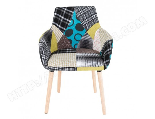 fauteuil scandinave patchwork gris bleu x2 id 39 click ma 72ca493faut itca9 pas cher. Black Bedroom Furniture Sets. Home Design Ideas